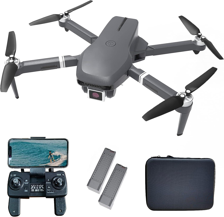 le-idea IDEA31 Drone Pieghevole con Camera 4K HD, Droni GPS 5GHz WiFi FPV, Drone Quadcopter RC con Telecamera professionale, Motore senza spazzole, 46 Minuti di Volo(2 Batterie), Modalità senza Testa