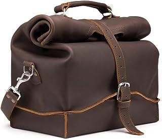 Saddleback Leather Co. 男式夜间皮革手提旅行行李包包括 100 年保修