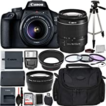Canon EOS 4000D DSLR Camera with EF-S 18-55mm f/3.5-5.6 III Lens Advanced Bundle - Includes: Extended Life LPE10 Replaceme...