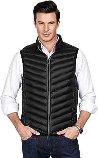 PAUL JONES Men's Sleeveless Warm Lightweight Down Vest Padded Jacket Puffer Vest