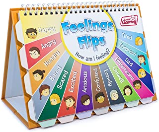 Junior Learning JL619 Feelings Flips Flipchart, Multicolor