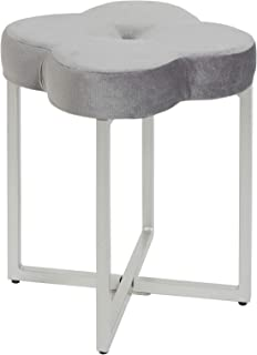 Silverwood Vanity Bench, Gray and Silver