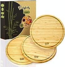 forêt de bambou© planches à déjeuner écologiques Ø25cm dans un ensemble de 3   planches à déjeuner en 100% bambou - planch...