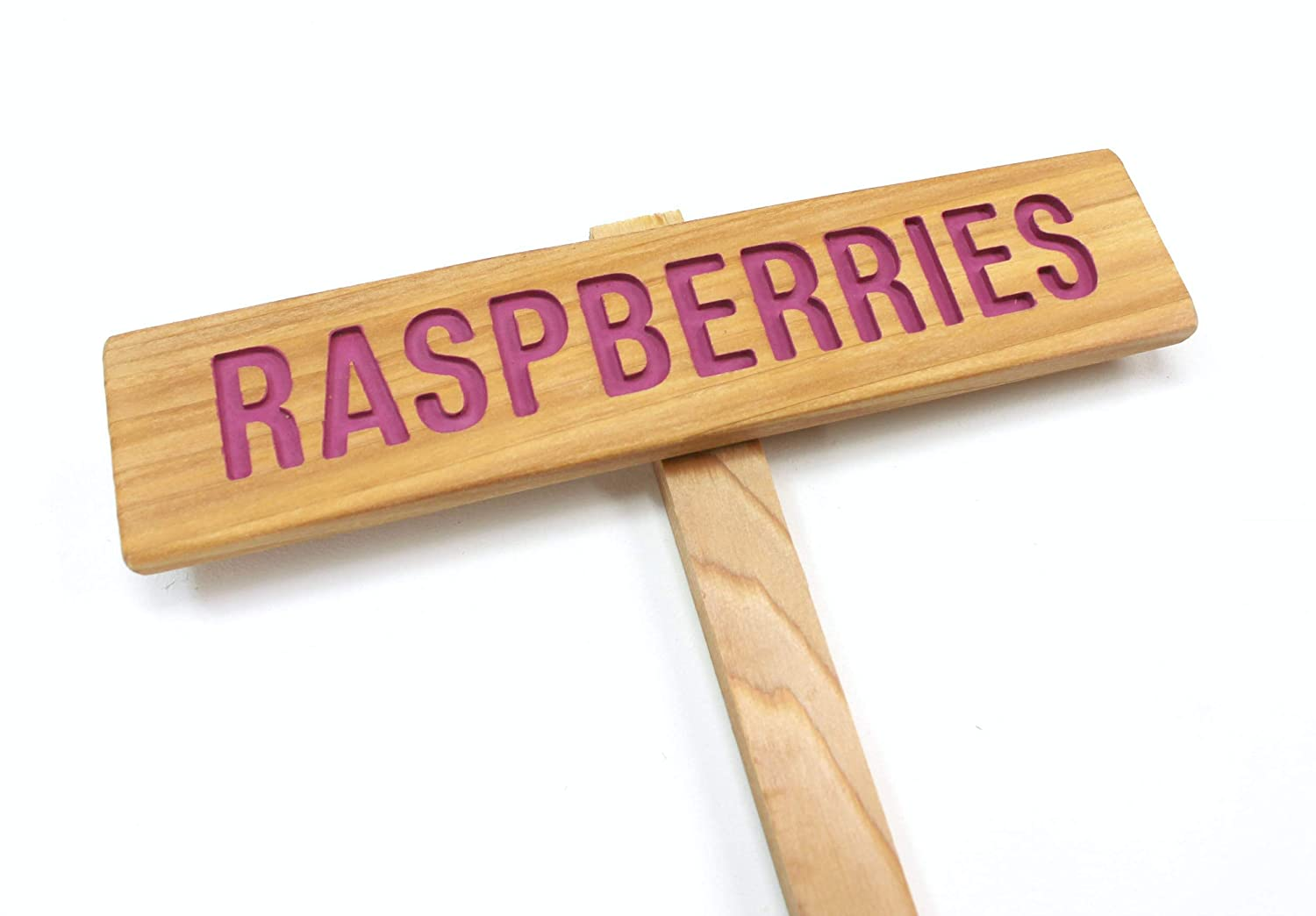 RASPBERRIES Garden Sign Painted Oil Max 51% OFF New product! New type Hand Cedar Sealed R Wood: