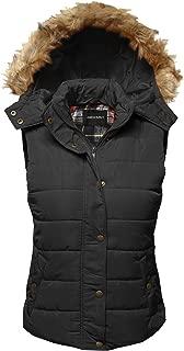 Women's Casual Drawstring Hooded Padding Junior Vest