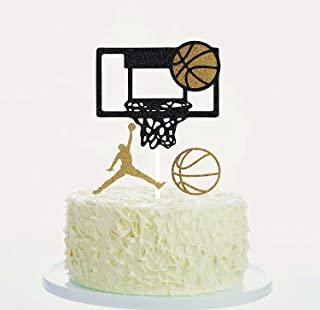 Soccerene Basketball Cake Toppers Cupcake Toppers Orange Gold Black Set of 3, 300 Gram Highest Quality, Fast Amazon Logistics and 100% Refund Service