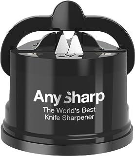 AnySharp Afilador de Cuchillos con Ventosa, Negro