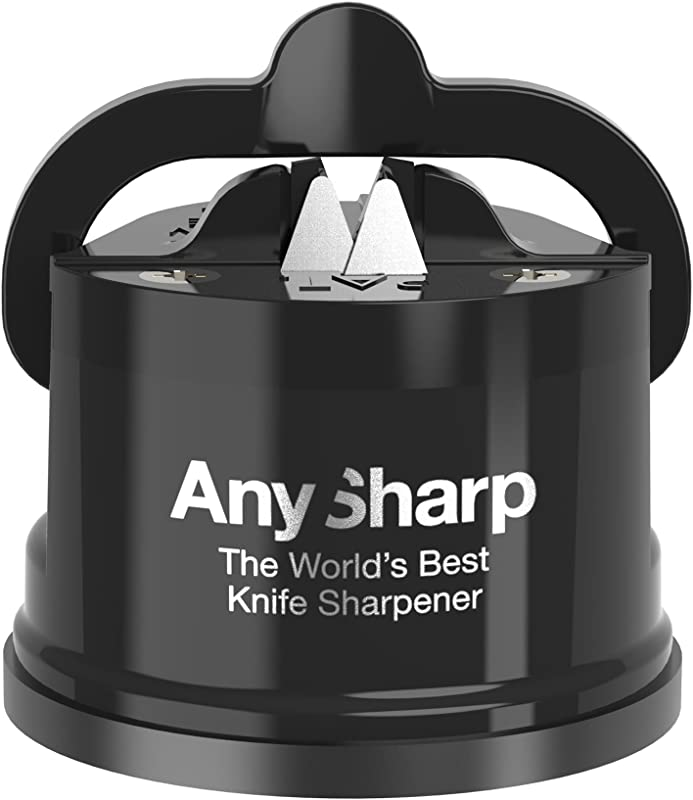 AnySharp Editions World S Best Knife Sharpener Black With With PowerGrip