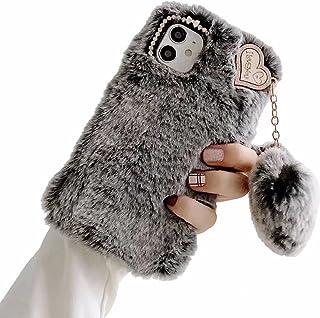 TYWZ Pluche Case voor Samsung Galaxy A72 5G/4G, Girly Faux Konijnenbont Pluizige Cover Stijlvolle Leuke Zachte Warme Winte...