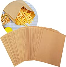 100 Pack(Waxed) Paper Unbleached Sandwich Bags 7.1x9.4x1 inch 100% Chlorine-Free Eco Alternative to Plastic Bags