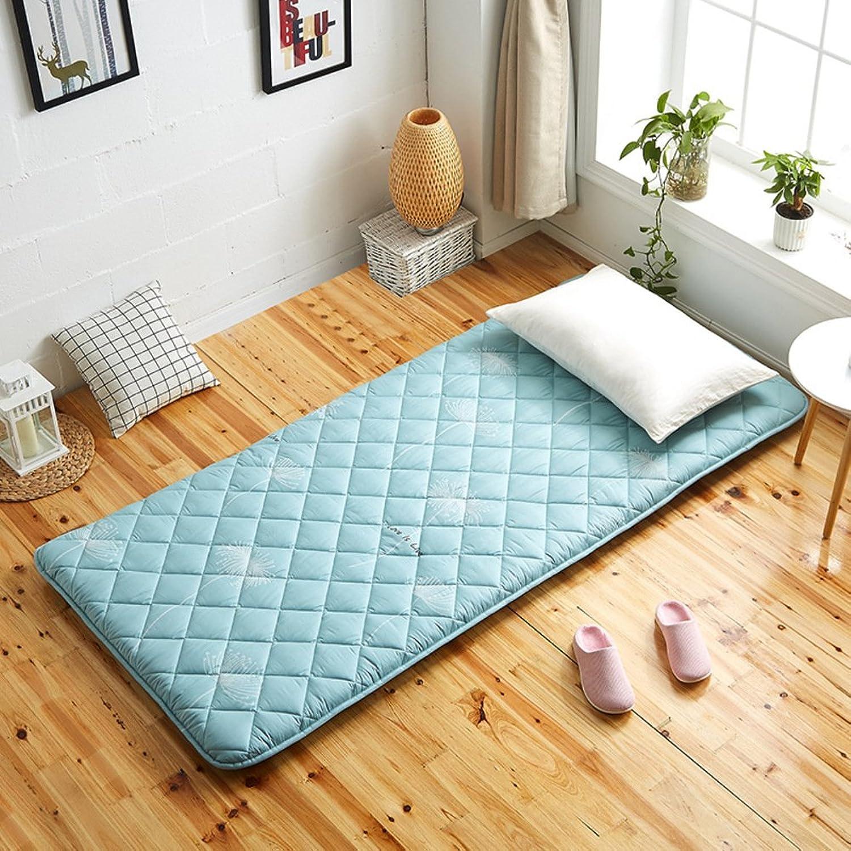 Japanese-Style Folding Tatami Mattress, Thicken Light Cotton Mattress Topper Comfortable Ground Floor Sleeping pad for Bedroom Dorm Room-B 90x200cm(35x79inch)