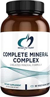 Designs for Health Complete Mineral Complex - Iron Free Multi Mineral Supplement, Chelated Minerals for Superior Absorptio...