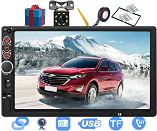 $51 » Double Din Car Stereo-7 inch Touch Screen Double din car Radio,Compatible with BT TF USB MP5/4/3 Player FM ,Support Backup...