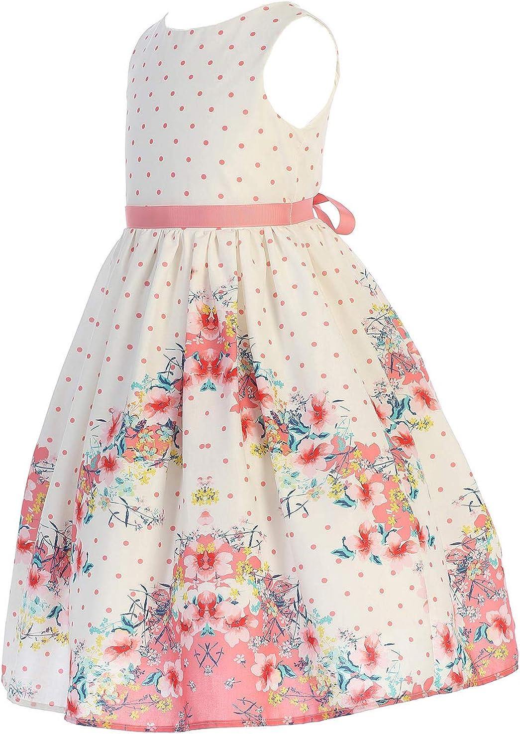 iGirlDress Little Girls Butterfly Burnout Organza/Cotton Easter Dress USA size2-12