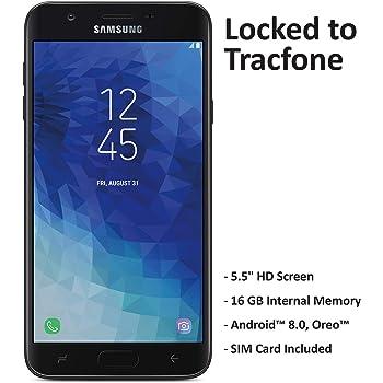 TracFone - Teléfono inteligente prepago para Samsung Galaxy J7 Crown 4G LTE, 16 GB, tarjeta SIM incluida, color negro, Sólo dispositivo, Negro