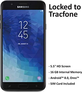 TracFone Carrier-Locked Samsung Galaxy J7 Crown 4G LTE Prepaid Smartphone – Black..