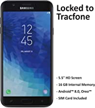 TracFone Carrier-Locked Samsung Galaxy J7 Crown 4G LTE Prepaid Smartphone – Black..