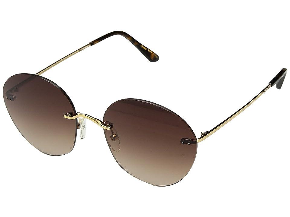 Retro Sunglasses | Vintage Glasses | New Vintage Eyeglasses TOMS - Clara Shiny Gold Fashion Sunglasses $149.00 AT vintagedancer.com
