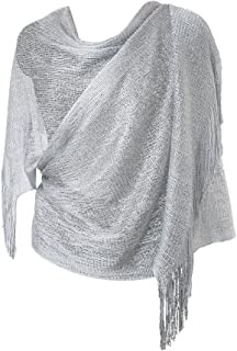 ea3f61ce8 Womens Evening Wrap Stole Shawl For Wedding, Parties, Bridesmaid, Prom Scarf  with Fringe