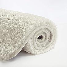Suchtale Bathroom Rug Non Slip Bath Mat for Bathroom Water Absorbent Soft Microfiber Shaggy Bathroom Mat Machine Washable ...