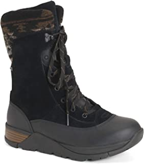 Muck Boot Women's Apres Lace v2 Leather, Color: Black, Size: