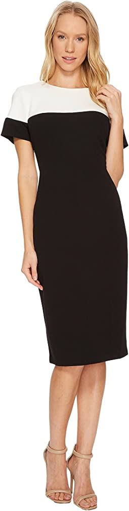 Adrianna Papell - Stretch Crepe Sheath Dress