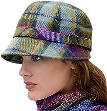 Ladies Plaid Flapper Hat, Made in Ireland, Purple
