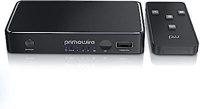 Primewire – Switch Commutador HDMI 4K / Interruptor HDR   3 entradas HDMI / 1 Salida HDMI   4096 x 2160 60 Hz   Mando a Distancia   3D   Dolby True HD   Conmutación automática