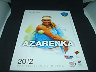 Victoria Azarenka Signed 2012 W&S Open Official Player Card COA Auto. 1A - PSA/DNA Certified - Autographed Tennis Cards