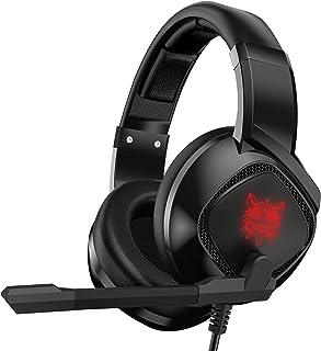 Mabsi Tech Audífonos Gamer con Micrófono para PS4, Xbox One, PC. Diadema Auriculares Alámbrico Estéreo para Juegos. Headset Gamer. Cancelación de ruido externo. Audífonos para videojuegos. Audífonos profesionales para gamers.