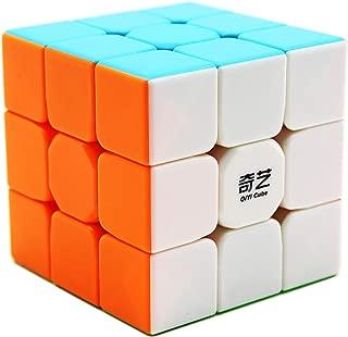 Moruska Qiyi 3X3 Speed Cube Stickerless 3X3X3 Cube Puzzle Toy - Qiyi Warrior W Version, White