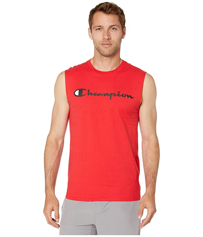 Champion Classic Jersey Graphic Muscle Tee (Scarlet) Men