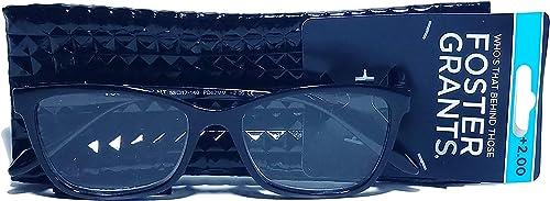 popular Foster popular Grant VRL2004 Black online Women's Reading Glasses w/Soft Case (Black, +2.00) outlet online sale