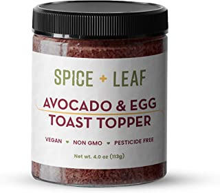 Premium Avocado & Egg Toast Topper by SPICE + LEAF - Vegan Pesticide Free Spice Blend Usedto Give Avocado, Eggs, Salad and Fish a Pop of Flavor, 4 oz.