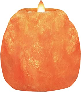 Himalayan Glow Hand Carved Himalayan Salt Candle Holders, Home Decor Item great as a Night light