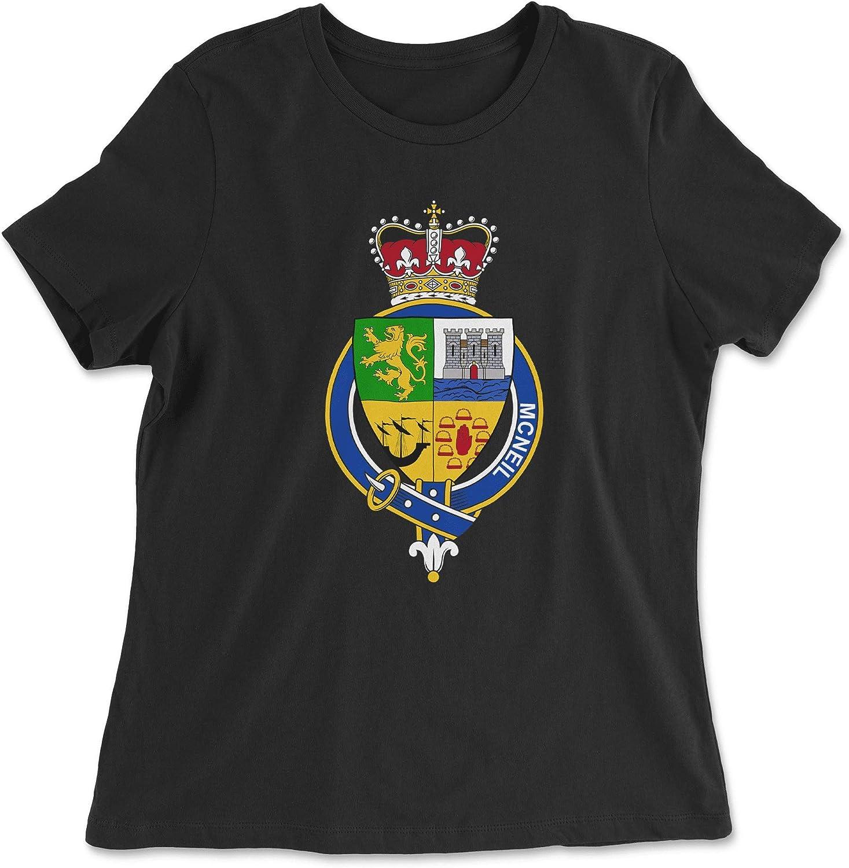 HARD EDGE DESIGN Women's Scottish Garter Family MacNeil T-Shirt