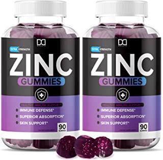 Sponsored Ad - Zinc Gummies for Adults, 180 Count, Zinc Chewable Supplements Vitamin 30mg with Echinacea for Immune Suppor...