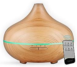 Smartoid Aromatherapy Diffuser, 500ml Remote Control Cool Mist Humidifier, Ultrasonic Aroma, Essential Oil Diffuser Office...