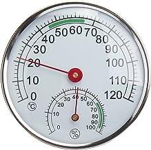 DyNamic Termómetro De Acero Inoxidable/Higrómetro Para Sauna Temperatura Ambiente Medidor De Humedad