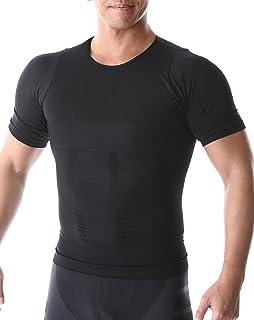 SPORTIA 加圧インナー 加圧シャツ コンプレッションウェア 吸汗速乾 半袖 メンズ ブラック L