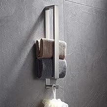 Temgin Handdoekhouder met haak zelfklevende handdoekhouder roestvrij staal geborsteld zilver 40 CM voor badkamer
