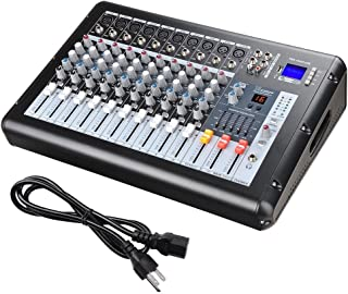 AW 10 Channel Professional Powered Mixer with USB Slot DJ Power Mixing 110V 18.9