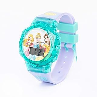 Disney Princess Girls Digital Dial Display Flashing LED Wristwatch - SA7178 Princess-B