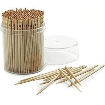 Lifetime Brands 5080360 200 Count Farberware Classic Wood Toothpicks with Holder