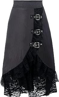 Women's Steampunk Retro Vintage Victorian Gypsy Hippie Lace Party Skirt
