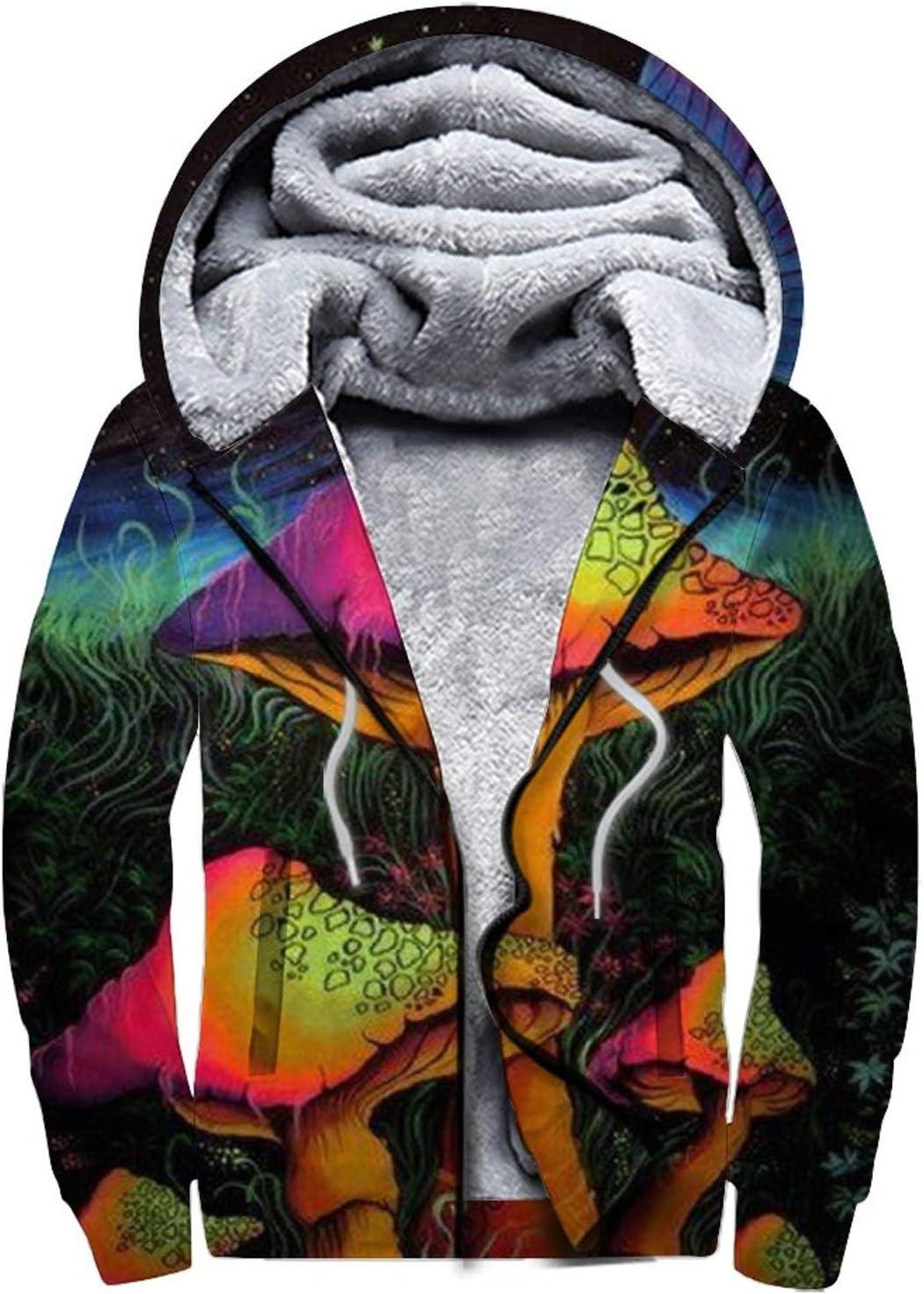 D-WOLVES Men's Super Special SALE held New Orleans Mall Hoodies Pullover Sweatshirt Zip Full Thick Fleec