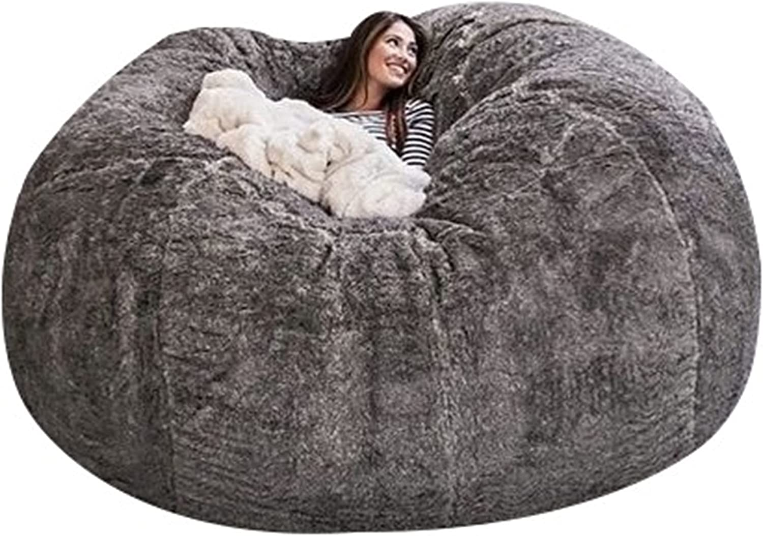 EKWQ 7ft Bean Bag Max 43% OFF Chair Cover No Sales results No. 1 Comfortable Be Durable Filler