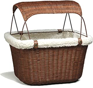 PetSafe Solvit Tagalong Wicker Bicycle Basket, Dog Carrier for Bikes, Best for Dogs Up to 13 lb.