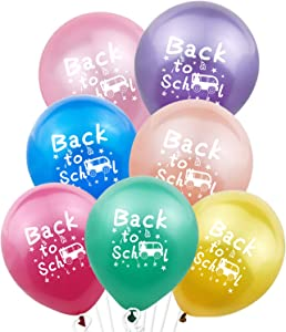 Back to School Balloons Decorations - Pack of 35 | Colorful Welcome Back To School Latex Balloons | Back to School Decorations for Pre- School , Kindergarten | First Day School Balloons Party Supplies