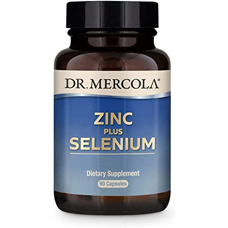 Dr. Mercola Zinc Plus Selenium Dietary Supplement, 90 Servings (90 Capsules), Supports Immune Health, Non GMO, Soy Free, Gluten Free